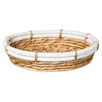 Nate Berkus™ Round Water Hyacinth Tray - Natural and White