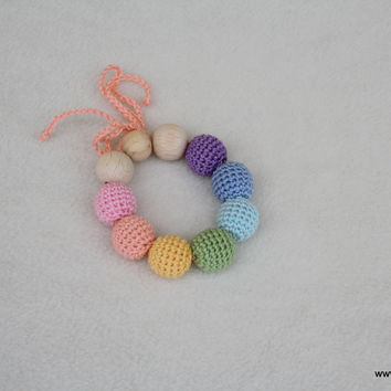 Pastel rainbow - bracelet-teether