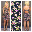 Rose And Cons Cutout Dress - BLACK