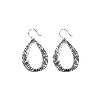 Forget Me Knot Perforated Sterling Silver Earring