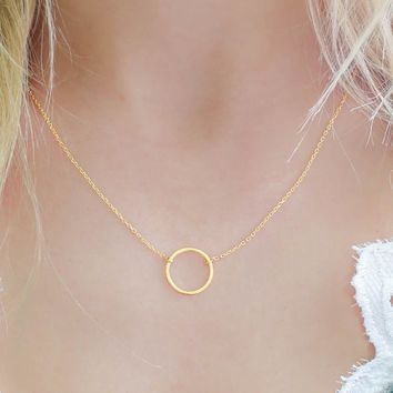 Circle Up Necklace - Gold