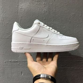 DCCK Originals Nike Air Force One 1 Classic Low All White Shoes AF1 '07 315122-111