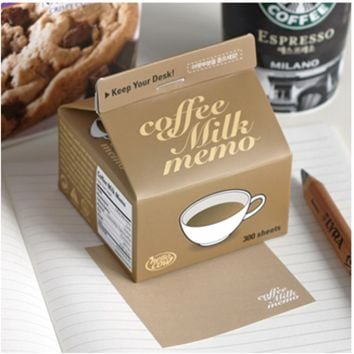 Coffee Milk Notepad