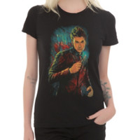 Doctor Who Tenth Doctor Comic Art Girls T-Shirt