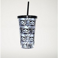 Stormtrooper Star Wars Cup with Straw - Spencer's
