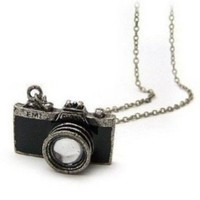 Chopmall Vintage Camera Chain Necklace in Black