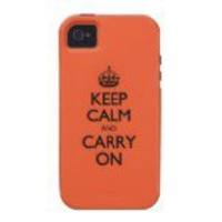 Tangerine Tango Keep Calm And Caryy On Vibe iPhone 4 Cover