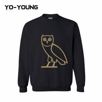 Yo-Young Mens Casual Cotton Sweatshirt OVO Drake Owl Printed chandal hombre moleton masculino Quality Customized
