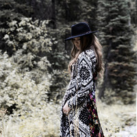 She Knows Bohemian Style Duster Cardigan