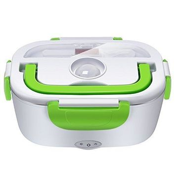 Electric Lunch Box Heater By LUD | Portable Lunch Heater with Removable Stainless Steel Container Food Cooked Meals Delivered