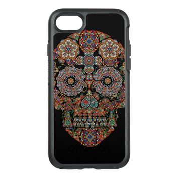 Flower Sugar Skull OtterBox Symmetry iPhone 7 Case