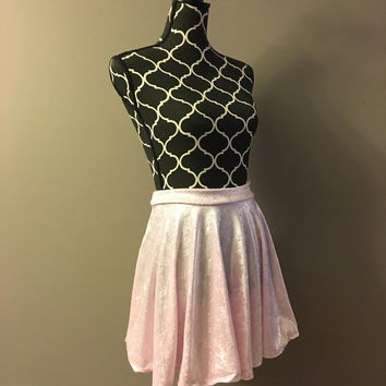 Baby Pink Circle Skirt dance costume rave outfit pole dancing