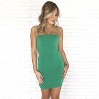 Sweet Thing Bodycon Dress in Green