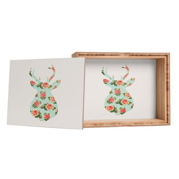 Allyson Johnson Floral Deer Silhouette Jewelry Box