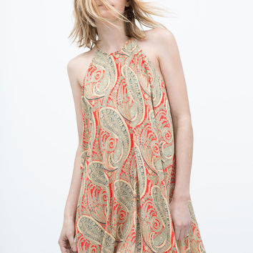 PRINTED HALTER NECK TUNIC