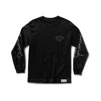 Fairsle Long Sleeve Tee in Black
