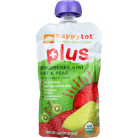 Happy Tot Toddler Food - Organic - Plus - Fruit And Veggie Blend - Strawberry Kiwi Beet And Pear - 4.22 Oz - Case Of 16