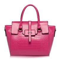Fashion Crocodile Grain Solid Color Handbag Shoulkder Bag