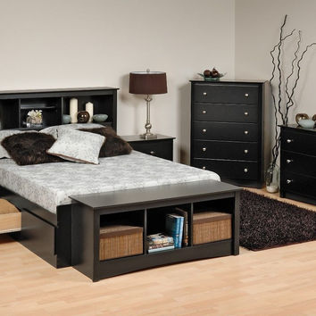 Prepac Sonoma Platform Storage Bed, Dresser, Chest, Nightstand, or Headboard