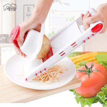 Manual Vegetable Mandoline With 5 Blades