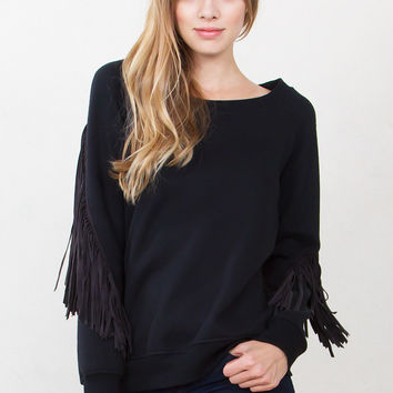 Midnight Fringe Sweatshirt