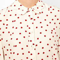 Boutique By Jaeger Ladybird Scallop Collar Blouse