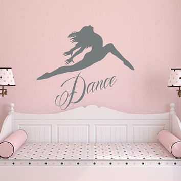 Dance Wall Decal Vinyl Sticker Decals Ballet Dancing Ballerina A