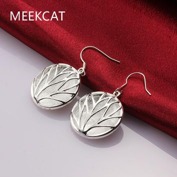 Tree of Life Crystal Flower Piercing Hanging Earring With Stone For Women silver plated Round Statement Earrings Fashion Jewelry