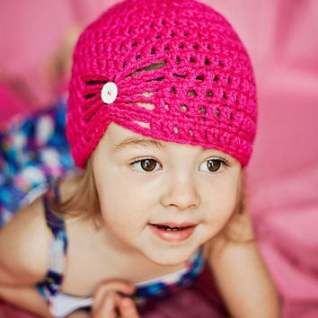 crochet beanie hat for baby girl to teen you by stitchesbystephann