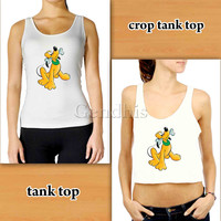 Pluto Disney 515bdc241 Custom Woman Crop Tank , Woman Tank Top , Man Tank Top