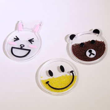Cute Little Small Accessory Cellphone Decoration  Mobile Phone Stickers for Apple iPod For iPhone 4S 5 5s 6 plus Samsung Decor