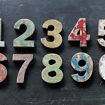 Colorful Wood Numbers - Set of 10 - Decorative Numbers | HomeDecorators.com
