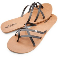 Volcom Women's New School Sandals - Black