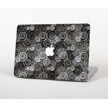 """The Back & White Abstract Swirl Pattern Skin Set for the Apple MacBook Air 13"""""""