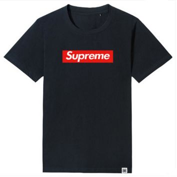 """Supreme"" Fashion Casual Simple Male Female Large Size Letter Print Round Neck Short Sleeve Cotton T-shirt"