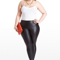 Plus Size High Waisted Faux Leather Leggings | Fashion To Figure