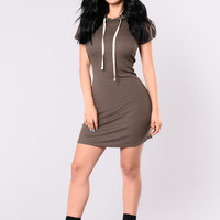 Jemma Tunic Dress - Olive