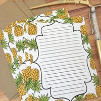 Pineapple stationery writing set