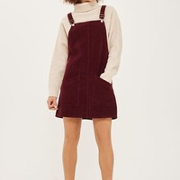 MOTO Cord Pocket Pinafore Dress
