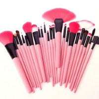 24 makeup brush makeup tool set BBCJC (black)