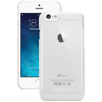"""MACALLY SnapP6MC iPhone(R) 6 4.7""""""""/6s Snap-On Case (Metallic Clear)"""