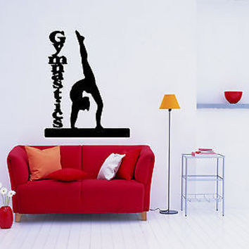 Gymnastics Sport Exercise Physical Strength Wall Decal Sticker 3665