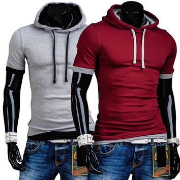 Casual Short Sleeve T-shirts Summer Men Pullover Hats [9883852867]