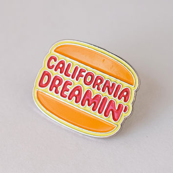 California Dreamin Burger Lapel Pin