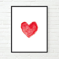 heart painting Typographic Print drawing art print wall decor couple gift decor heart  framed quotes bedroom poster love tumblr room decor