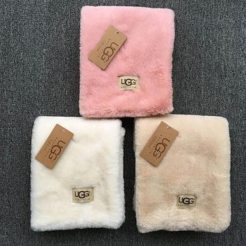 '' UGG '' Autumn Winter Woman Men Scarf Scarves Heat Preservation Thick Scarf Accessories