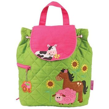 Personalized Quilted Stephen Joseph Backpack Girl Farm