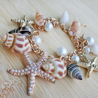 Seashell and Starfish Anklet/Bracelet
