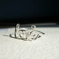 Love Ring Wire Word Jewelry