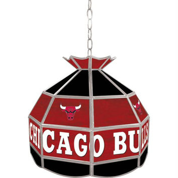 Chicago Bulls NBA 16 inch Tiffany Style Lamp
